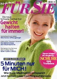 """""""5 Minuten nur für mich"""" Artikel """"Für Sie"""" Heft 7 – 2014"""