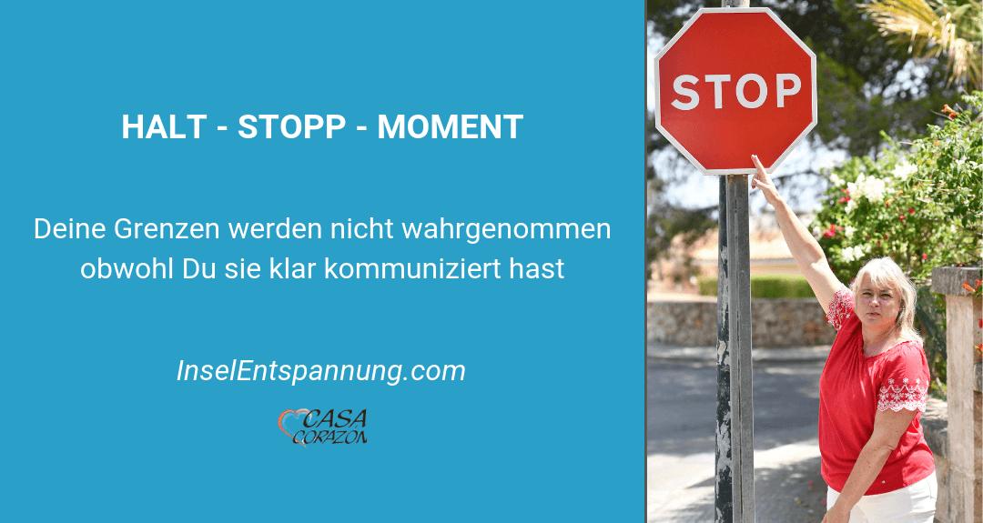 Halt stopp Moment